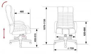 Кожаное кресло KB-10W