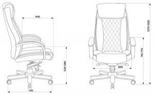 Кресло кожаное T-9924WALNUT черный кожа